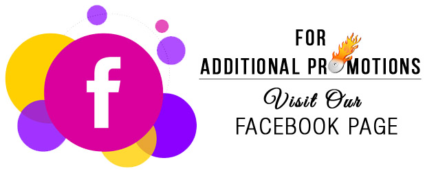 Additional promotions on Facebook